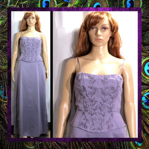 Wisteria Purple Gown by Dave and Johnny #034